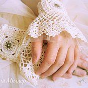 Свадебный салон handmade. Livemaster - original item Cuff Mademoiselle. Handmade.