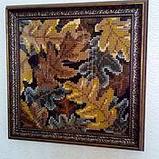 Панно ручной работы. Ярмарка Мастеров - ручная работа Панно Осенние листья. Handmade.