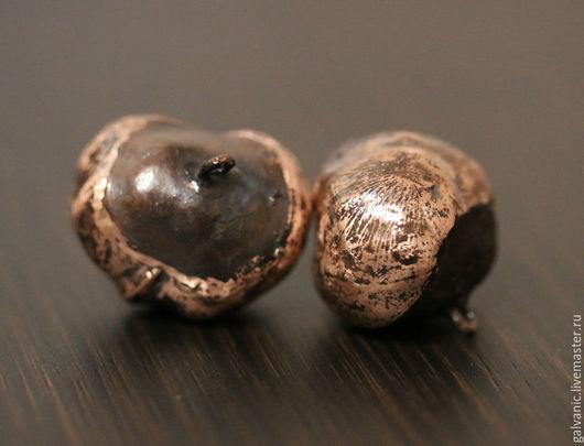 Для украшений ручной работы. Ярмарка Мастеров - ручная работа. Купить Плоды каштана омедненные и патинированные. Handmade. Коричневый, каштан