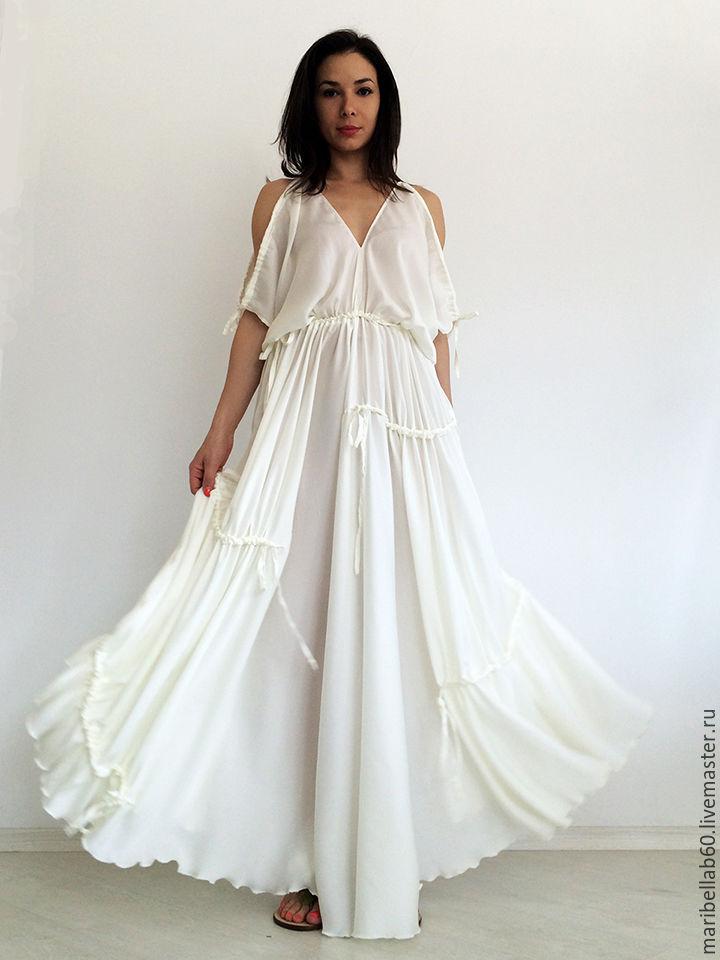 White Maxi Dress Wedding Dress Beach Dress Evening Dress Shop