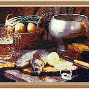 Картины и панно handmade. Livemaster - original item Tapestry bead still life TABLE. Handmade.
