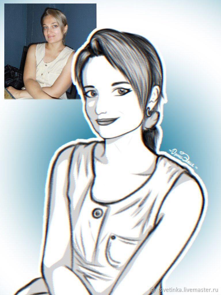 Портрет-рисунок по фото, Фотокартины, Москва, Фото №1