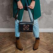 Сумки и аксессуары handmade. Livemaster - original item Leather and wood bag with hand embroidery ETNINEN. Handmade.