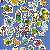 Материалы для творчества handmade. Livemaster - original item A set of authors nucleic stickers with cats, dogs and other. Handmade.