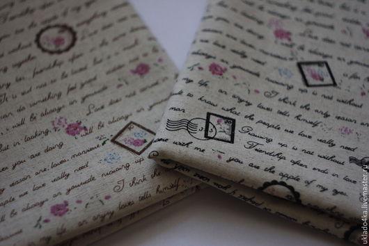 """Шитье ручной работы. Ярмарка Мастеров - ручная работа. Купить Ткань - лен. """"Письмо"""".. Handmade. Лен, ткань для рукоделия"""