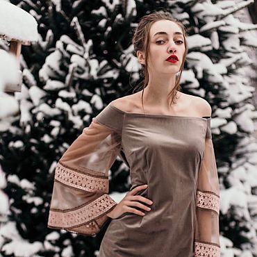 Одежда ручной работы. Ярмарка Мастеров - ручная работа Нарядное , красивое платье с вышивкой для праздничных событий. Handmade.