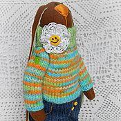 Куклы и игрушки ручной работы. Ярмарка Мастеров - ручная работа Заяц. Заяц из флиса в вязаном свитере. Handmade.
