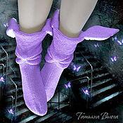 Аксессуары ручной работы. Ярмарка Мастеров - ручная работа Наши на луне. Носки вязаные, шерстяные носки. Вязаные носки купить.. Handmade.
