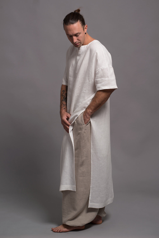 Длинная мужская рубаха галабия из льна ZIV - 31 расцветка, Рубашки, Бээр-Шева,  Фото №1