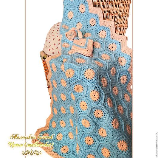 Текстиль, ковры ручной работы. Ярмарка Мастеров - ручная работа. Купить Плед детский и зайка-засыпайка вязаный крючком. Handmade.