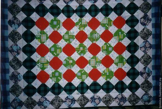 Текстиль, ковры ручной работы. Ярмарка Мастеров - ручная работа. Купить Лоскутное одеяло  ЦВЕТНЫЕ КВАДРАТЫ. Handmade. Лоскутный плед