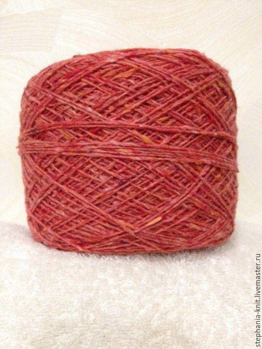 Вязание ручной работы. Ярмарка Мастеров - ручная работа. Купить Пряжа твид 80% шерсть, 20% ПА. Handmade. Розовый