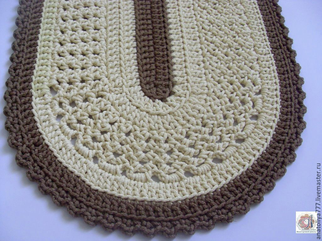 An oval rug is crocheted of cord included – shop online on ...