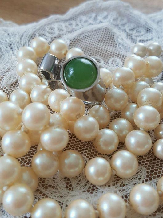 Винтажные украшения. Ярмарка Мастеров - ручная работа. Купить Оригинальное серебряное кольцо с нефритом. Handmade. Зеленый, кольцо, оникс, серебро
