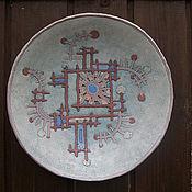 Посуда ручной работы. Ярмарка Мастеров - ручная работа Орнаментальная тарелка. Handmade.