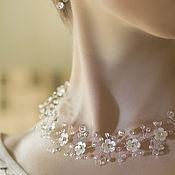 Свадебный салон handmade. Livemaster - original item Bridal necklace with flowers. Handmade.
