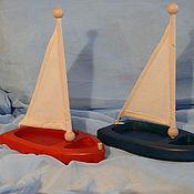 Куклы и игрушки ручной работы. Ярмарка Мастеров - ручная работа Деревянные кораблики( игрушка детская). Handmade.