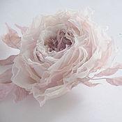 Свадебный салон ручной работы. Ярмарка Мастеров - ручная работа Цветок в прическу невесты. Шелковая роза. Пудровый.. Handmade.