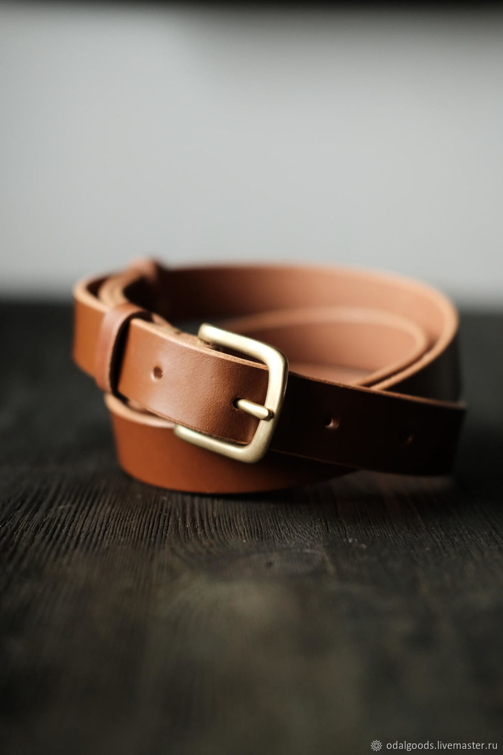 Belt classic handmade leather 30 mm-Red, Straps, St. Petersburg,  Фото №1