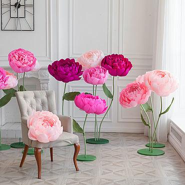 Свадебный салон ручной работы. Ярмарка Мастеров - ручная работа Фотозона: ростовые цветы. Handmade.