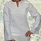 Льняная блуза с ручной вышивкой Белая Лилия.\r\n\r\nТворческое ателье Modne-Narodne. Модная одежда с ручной вышивкой.