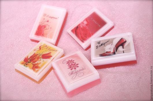Мыло ручной работы. Ярмарка Мастеров - ручная работа. Купить Мыло-мини Ассорти 8 марта (в подарочной упаковке) подарок женщине. Handmade.