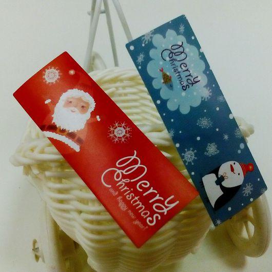 """Упаковка ручной работы. Ярмарка Мастеров - ручная работа. Купить Наклейки """"Merry Christmas 2 """"  -упаковка новогодних подарков. Handmade."""
