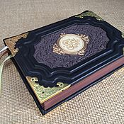 Сувениры и подарки handmade. Livemaster - original item Orthodox prayer book in leather binding. Handmade.