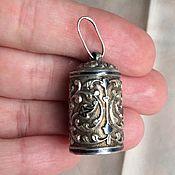 Винтаж ручной работы. Ярмарка Мастеров - ручная работа Антикварный серебряный  кулон-наперсток. Handmade.