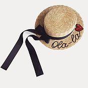 Аксессуары handmade. Livemaster - original item Boater hat. Handmade.