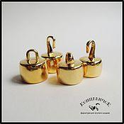 Материалы для творчества ручной работы. Ярмарка Мастеров - ручная работа Замки 15 мм и 12 мм золото Греция. Handmade.