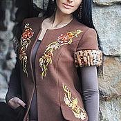 Одежда handmade. Livemaster - original item exclusive embroidered coat