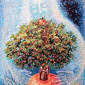 Картины и панно ручной работы. Ярмарка Мастеров - ручная работа Яблочная Вселенная. Handmade.