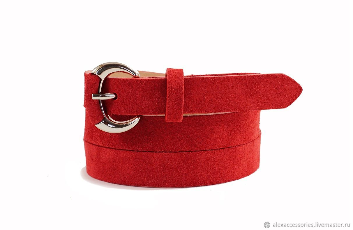 Copy of Red suede belt, Straps, Moscow,  Фото №1