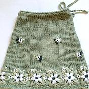 Работы для детей, ручной работы. Ярмарка Мастеров - ручная работа Юбка для девочки вязаная с вышивкой. Handmade.