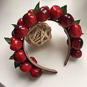 Украшения ручной работы. Ярмарка Мастеров - ручная работа Ободок с ягодами вишня-черешня. Handmade.