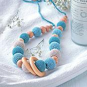 Одежда handmade. Livemaster - original item Slingobusy, necklace for mom juniper - Harmony. Handmade.