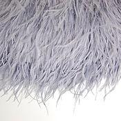 Материалы для творчества handmade. Livemaster - original item Trim of ostrich feathers 10-15 cm light gray with a purple tint. Handmade.