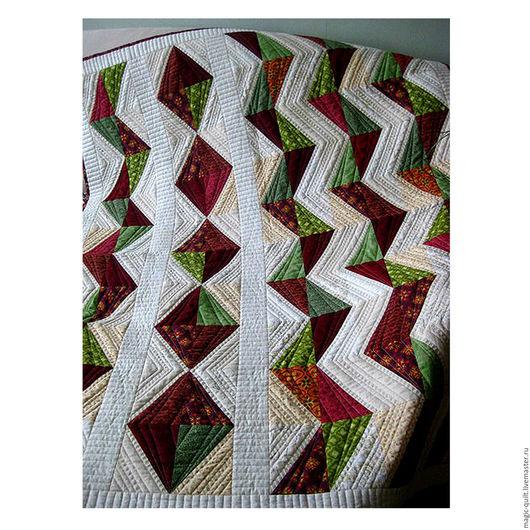 """Текстиль, ковры ручной работы. Ярмарка Мастеров - ручная работа. Купить Плед """"Змейка"""". Handmade. Комбинированный, покрывало пэчворк, стёжка"""