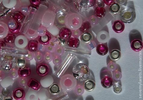 """Бисер японский, японский бисер купить, бисер """"TOHO"""" mix № 3214, цвет розово-малиновый. Японский бисер высокого качества.  Применяется для бисероплетения, вышивания, отделки различных изделий"""