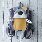 Работы для детей, handmade. Livemaster - original item New!!! Children`s backpack Bear. Handmade.
