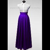Одежда ручной работы. Ярмарка Мастеров - ручная работа Юбка в пол, длинная юбка, Фиолетовая юбка, юбка макси, юбка солнце. Handmade.