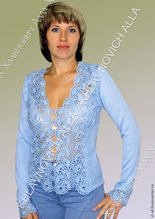 """Блузки ручной работы. Ярмарка Мастеров - ручная работа. Купить Блуза """"Голубка"""" мод.№523, 121. Handmade. Блуза"""