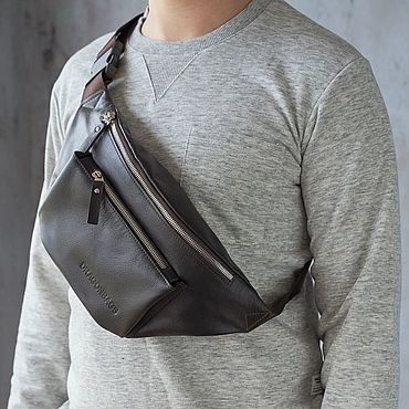 Bags and accessories handmade. Livemaster - original item Men`s waist bag