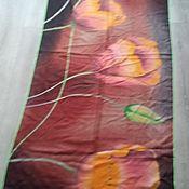 Материалы для творчества handmade. Livemaster - original item Handkerchief print processed with tulips. Handmade.