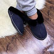 Обувь ручной работы handmade. Livemaster - original item Men`s suede sheepskin Slippers. Handmade.