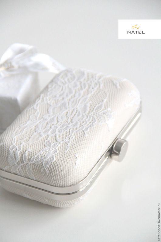 Женские сумки ручной работы. Ярмарка Мастеров - ручная работа. Купить Свадебная сумочка. Handmade. Бежевый, сумочка для невесты