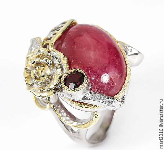 """Кольца ручной работы. Ярмарка Мастеров - ручная работа. Купить Стильное кольцо """" Слезы Граната"""" рубин и гранат в серебре. Handmade."""