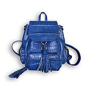 Сумки и аксессуары handmade. Livemaster - original item Backpack from crocodile PANDORA. Handmade.