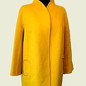 Одежда ручной работы. Ярмарка Мастеров - ручная работа Желтое демисезонное пальто. Handmade.